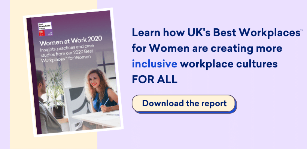 "alt=""uk best workplaces for women 2020 report publication download button"""