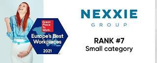 Nexxie-2021-Europes-Best-Workplaces-Rank
