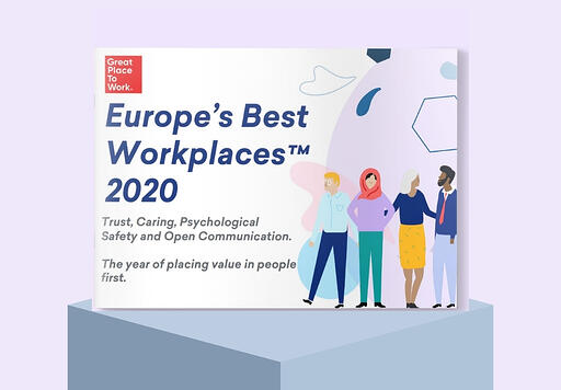 Publication-Front-Cover-on-pedestal-europes-best-workplaces-2020-lilac-background