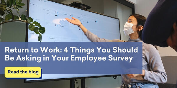woman-gestures-to-creen-with-return-to-work-data-from-employee-survey